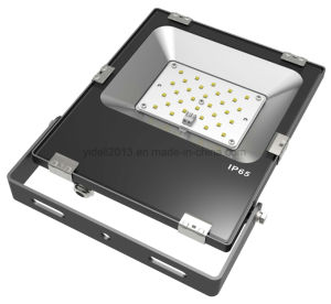 El aluminio + Vidrio templado Slim exterior proyector LED SMD