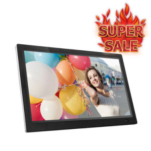 15,4 polegadas LCD Digital Photo Frame HD multifuncional 1280X800 no leitor de MP3/MP4 controlo remoto