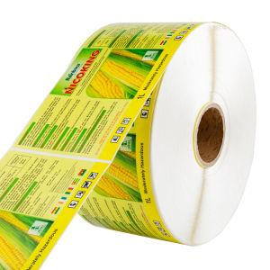Embalagem personalizada auto-adesivos autocolantes de vinil transparente impressa etiqueta térmica