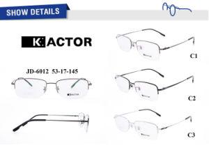 En stock personnalisée en usine titane pur cadre Half-Frame verres optiques
