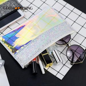 Multi Functionele Glanzende Handtas, de Handtas van de Ritssluiting van de Laser van het Leer van de Doorschijnendheid voor Vrouwen