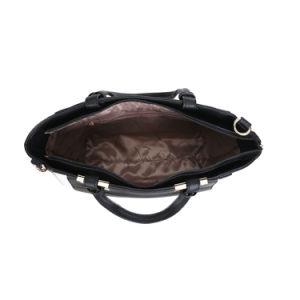 Negro y blanco colores de contraste bolsa de mano de señora (MBNO042004)