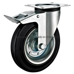 El transporte Industrial Standard de 75mm-200mm freno ruedas de goma de la placa giratoria