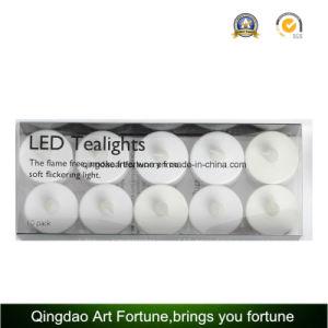 10pk batteriebetriebene LED flackernde Tealight Kerzen für Hotel