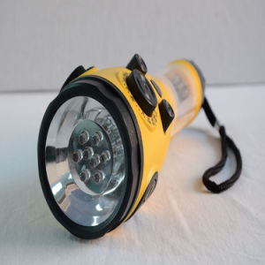 Linterna LED cargador para teléfono móvil de radio de manivela de FCC, CE aprobada (HT-3068)