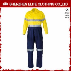 Les hommes costumes de sécurité à manchon long Coverall Coton (ELTHVCI-10)