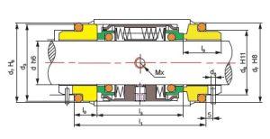 M74D Faces dupla vedação mecânica para Bomba Industrial