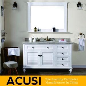 Оптовая торговля Америки простом стиле массивной древесины туалетный столик в ванной комнате (ACS1-W55)