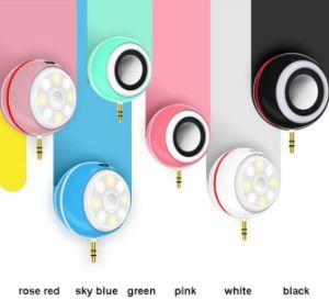 Портативный мини-Динамики Selfie светодиодная вспышка света для iPhone 7 MP3 iPad и Samsung