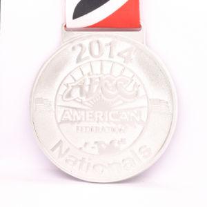 リボンのKeychainのロゴの市場が付いているエナメルのサッカーの昇進のギフトメダル