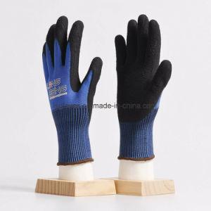 Revestida de espuma de látex preto 13 trabalhos de Segurança do Trabalho de Nylon do medidor de lado as luvas de borracha