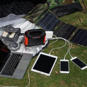 42000mAh Alimentación portátil generador de energía solar 100W inversor 155Wh