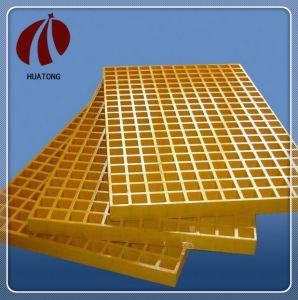 Rejilla de plástico reforzado con fibra de alta resistencia de la plataforma en la planta de tratamiento de aguas residuales