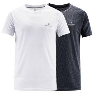 100% de poliéster T-Sgirt Golf tecido de malha Dri Fit Running Camisas 7335e1692a98b