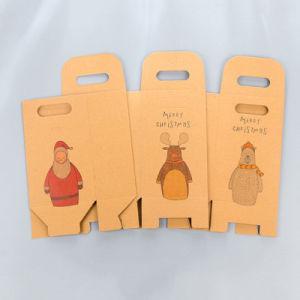 Papel Kraft Caja de caramelos bolsas de embalaje de regalo de Navidad
