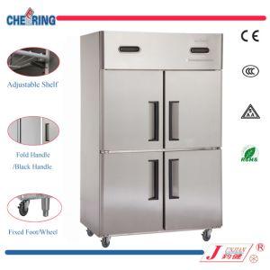 La temperatura de acero inoxidable doble de dos puertas - Nevera congelador dos puertas ...