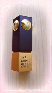 アルミニウムCNCの金属賞のメダルによってカスタマイズされるIhfの極度の地球のトロフィ
