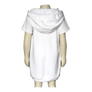 セーターのスポーツ・ウェアの不足分の袖の女の子の色の組合せのHoodieのスエットシャツの綿の学生服の服