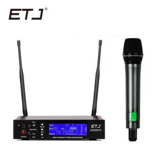 La vraie diversité Professional Double microphone sans fil UHF Karaoke Stage Microphone de performances