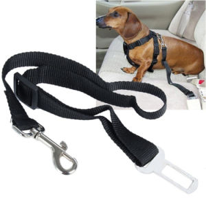 Coche de perro de mascota del Cinturón de seguridad de sujeción de cables Cable Correa