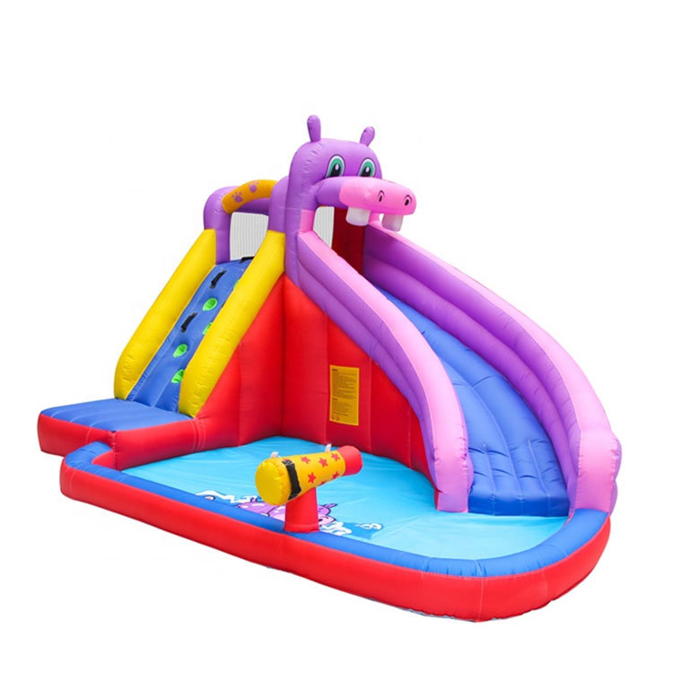 Wholesale Inflatable Climbing Wall Games Hippo Bouncer House Gun Water Slide Outdoor Inflatable Slide With Pool For Kids China Bouncer House Gun Water Slide And Inflatable Bouncer House Price Made In China Com