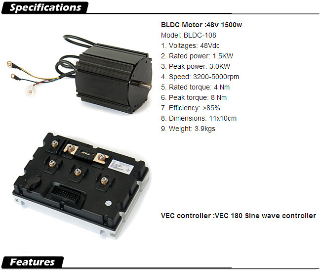 Electric Outboard Motor Kit: 3HP, 6HP, 10HP, 15HP, 20HP, 30HP Electric Kit De Moteur