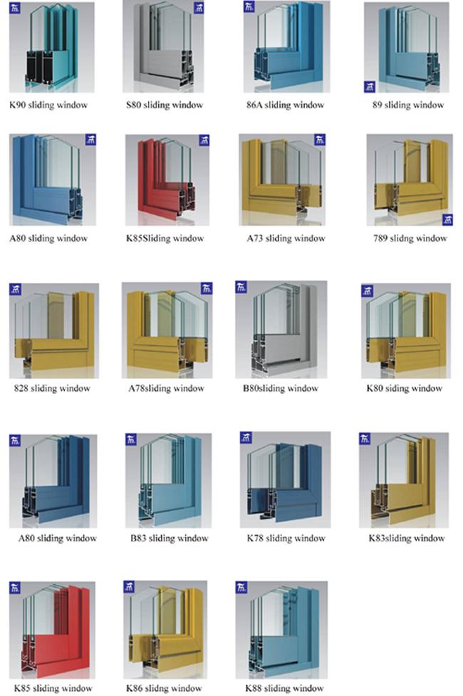 Buena calidad de aluminio para ventana corrediza perfil - Tipos de perfiles de aluminio ...
