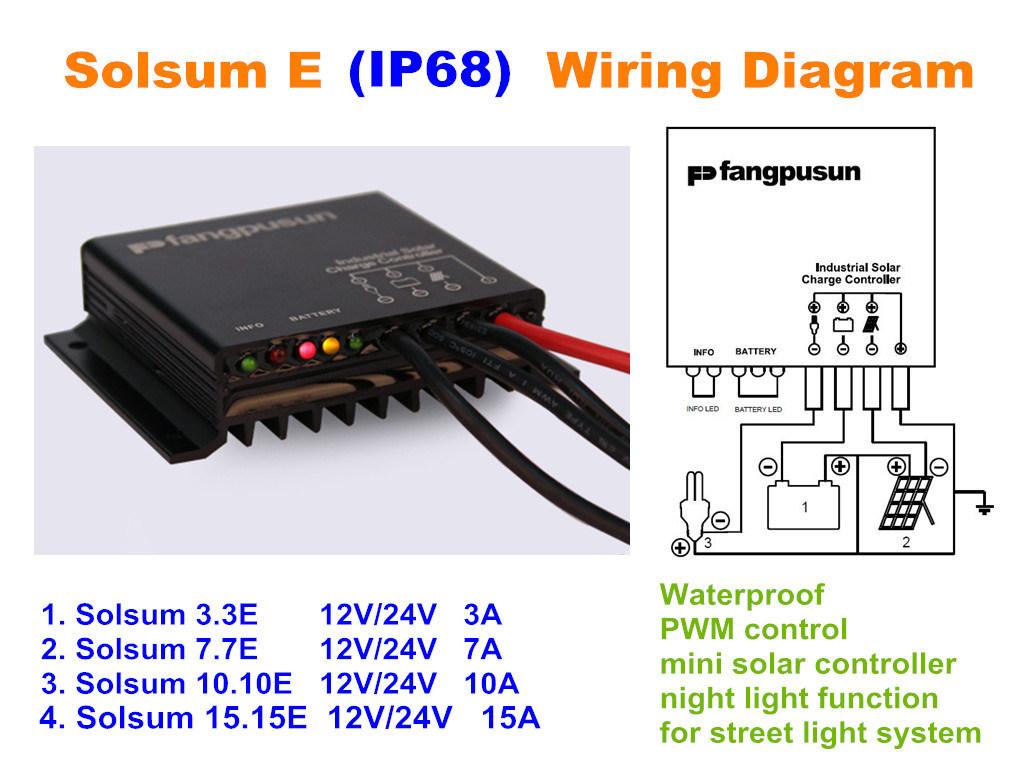 Solar Panel Power System 12v 24v Battery Charger Controller Circuit 33e