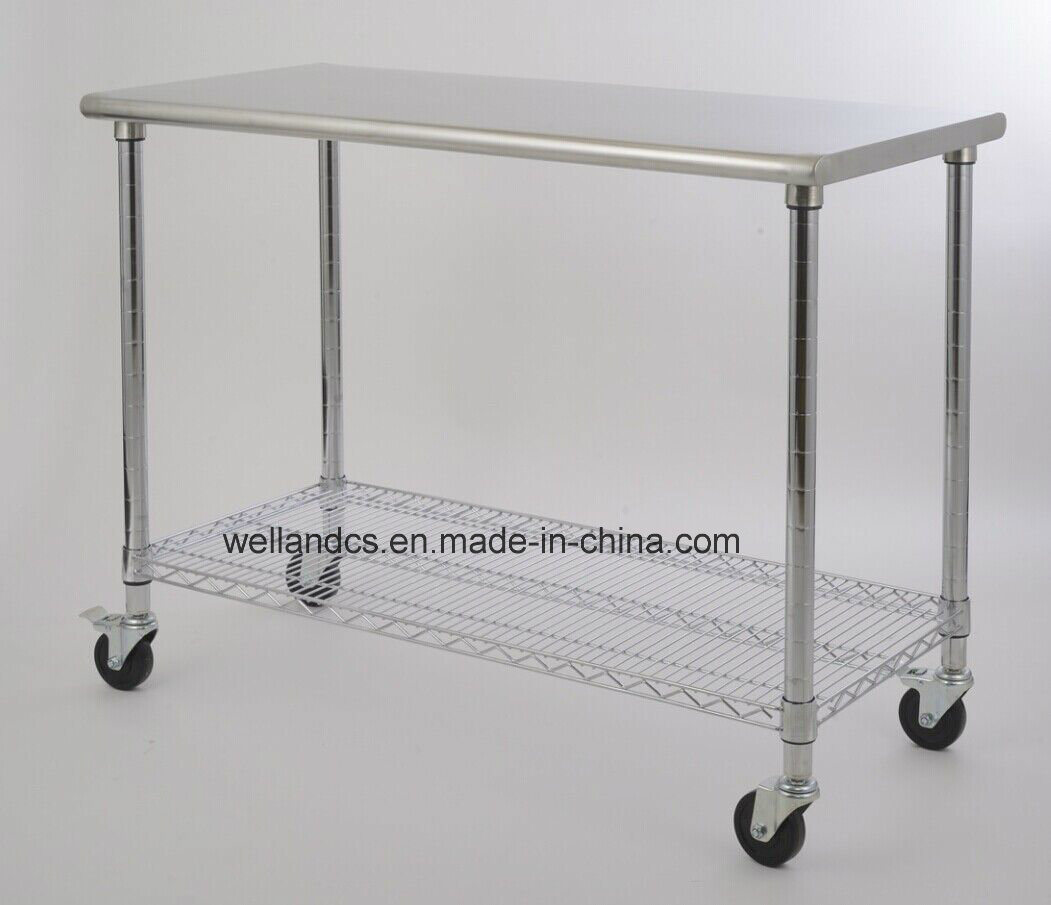 Restaurant Kitchen Equipment Stainless Steel Work Table Rack with ...