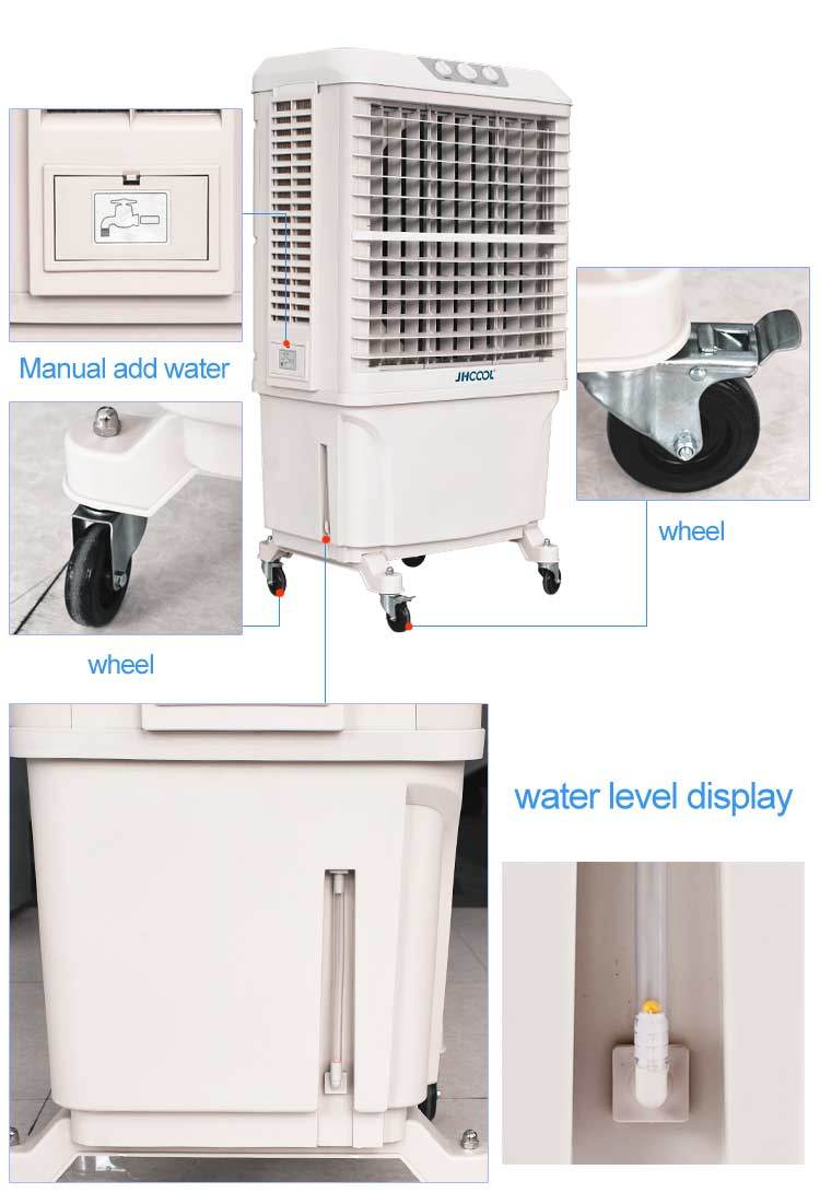 Enfriador de aire por evaporaci n port tiles aire for Humidificador aire acondicionado