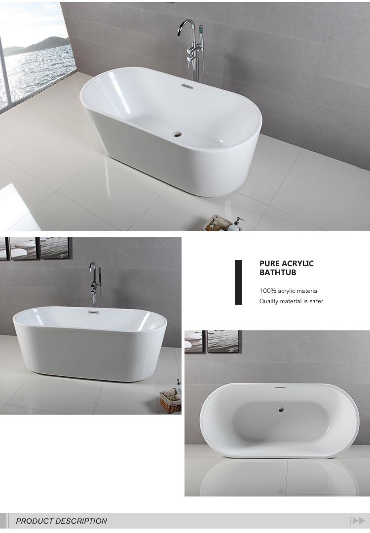 Baignoire troite ovale de trempage acrylique ovale de rim for Prix baignoire acrylique