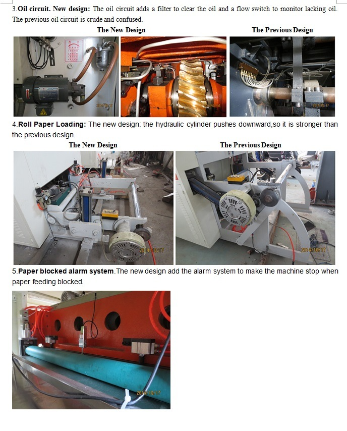 Reel Paper Die Cutting Machine Include Creasing and Embossing