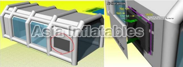 gonflable garage temporaire de temporaire gonflable garage cabine de pulv risation de peinture. Black Bedroom Furniture Sets. Home Design Ideas