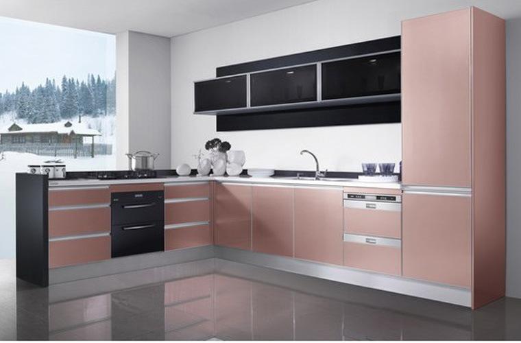 Oppein fashion peinture uv en laiton rouge les armoires de for X uv cuisine
