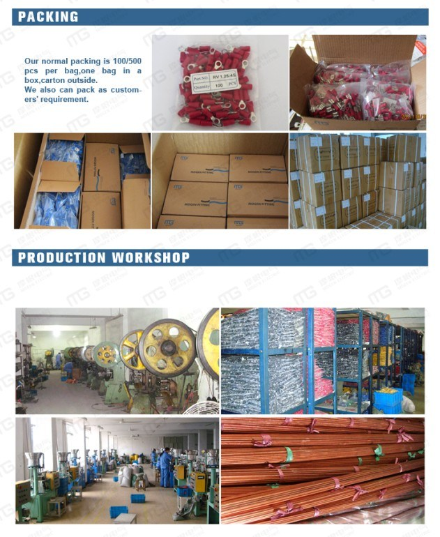 2018 Mogen Hot Selling RV Sv E Te Insulated Copper Full Wire Range Tin Plated Terminal with Ce RoHS UL ISO (MG)