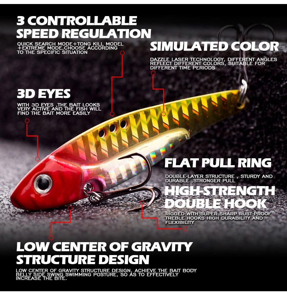 Gold Details about  /Metal VIB Lures Vibration Spoon Long Shot Fishing Bait Hard Bait