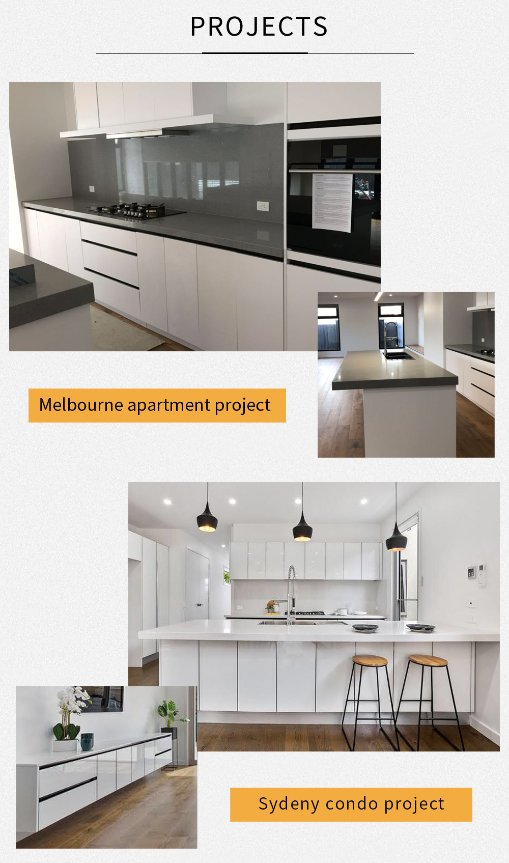 Residential Apartment Modern Style Wooden Look Laminate Hpl Kitchen Cabinets China Kitchen Cabinets Kitchen Cabinet Made In China Com