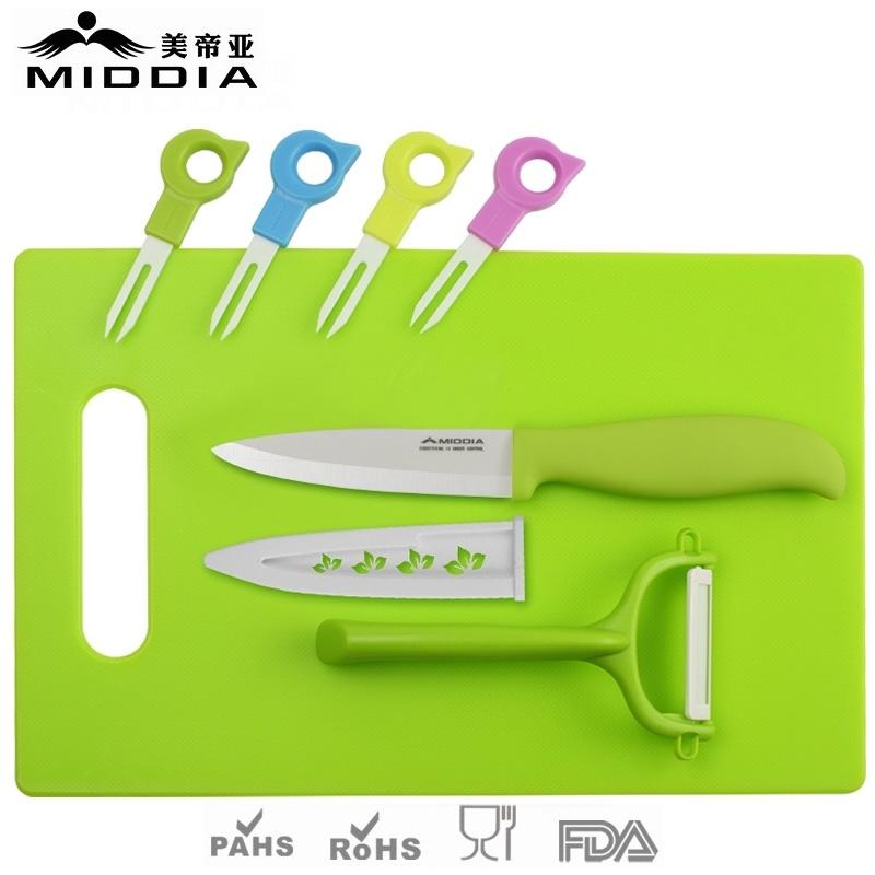 fourches de fruits en c ramique avec le couteau peeler. Black Bedroom Furniture Sets. Home Design Ideas