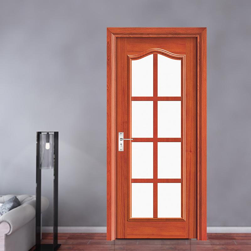 Puerta de cristal del último del diseño de la cocina marco de madera ...
