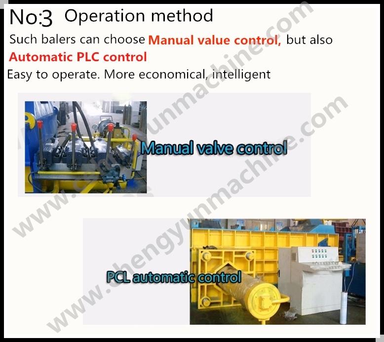 Ce ISO Certification Metal Cans Baler Manual/Baler Heavy Scrap Metal ...