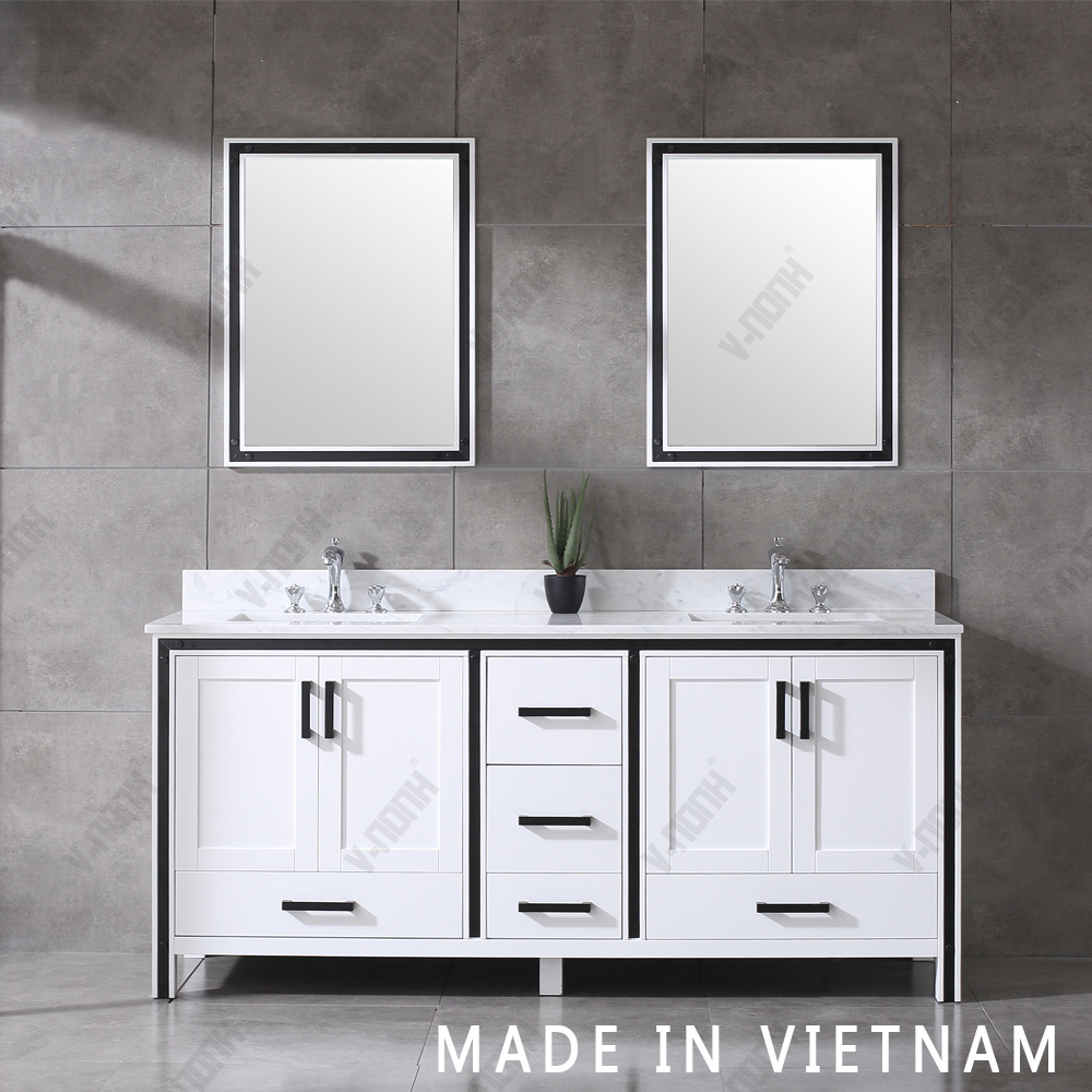 72inch White Cabinet Double Sinks Free Standing Bathroom Vanity Single Sink China Transitional Wall Mounted Made In China Com