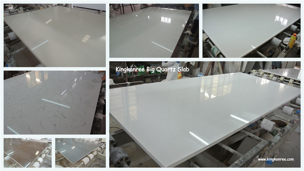 Sparkle White Quartz Flooring Tile Artificial Quartz Stone China