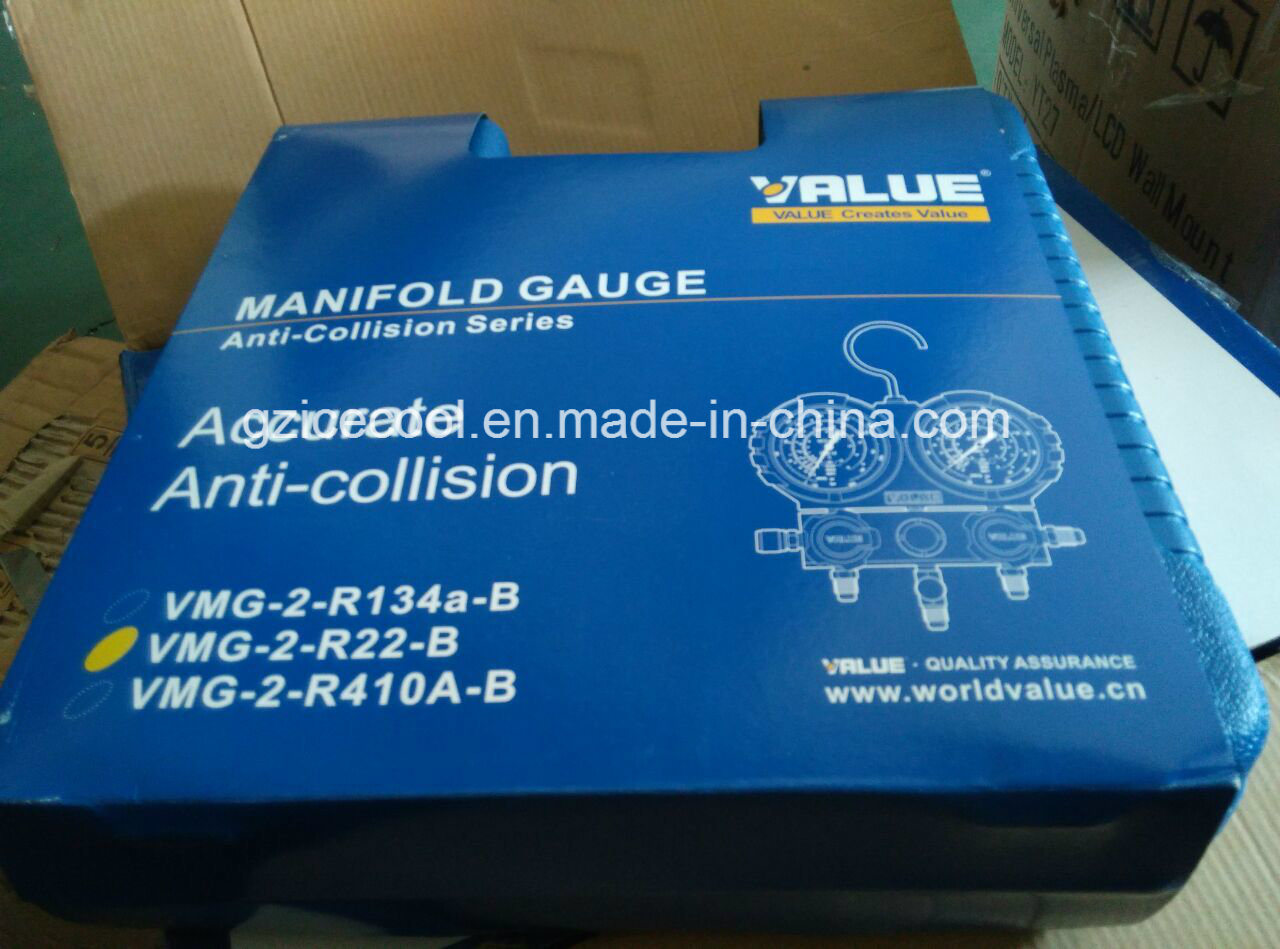 Value Brand Manifold Gauge Vmg 2 R22 B For R134 R404a R407c Single Accurate The Handle With Metal Insert Design Increase Strength