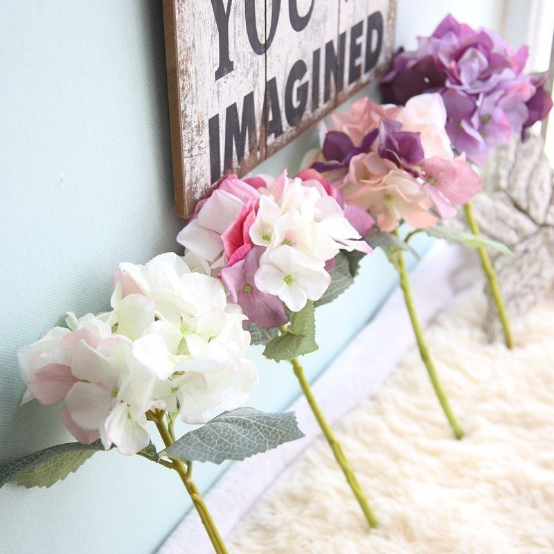 Artificial Hydrangeas Cheap Plant Canada Wedding Bouquet Silk ...