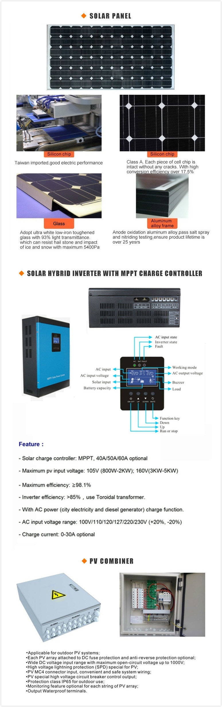 5kw 8kw off-Grid Solar Power System Home Solar Panel Kit Sun