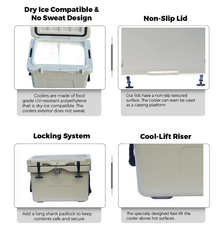 [Hot Item] Rotomolded Polyethylene Cooler Box Ice Cool Carry Box for  Fishing (TG-1005) 45L