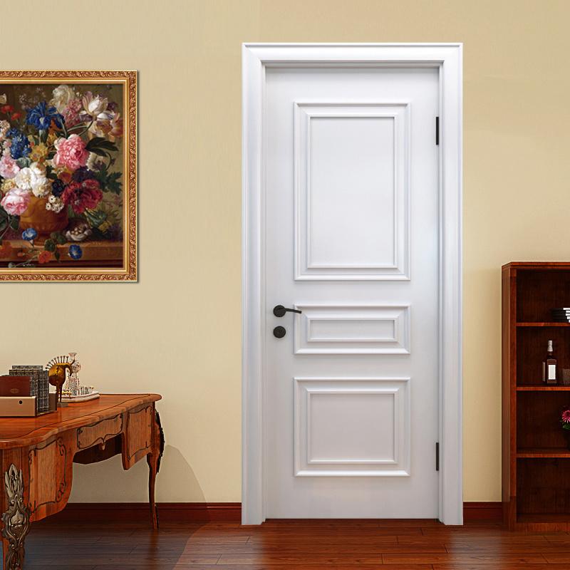 Weiße Kundenspezifische Festes Holz Innenhauptsächlichtür Für Häuser  (GSP2 101)