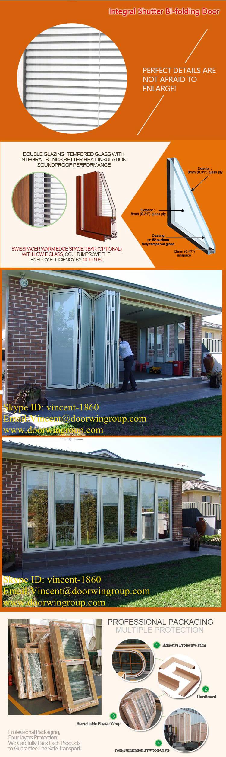Latest Design Folding Doors Japanese Style Durable Patio Door High Qu Wood Aluminium Doors And Windows Manufacturer In China