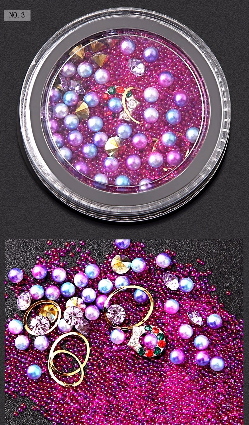 Beauty Lady Fashion Nails 3D Gems Mixed Decoration Beads Metal ...