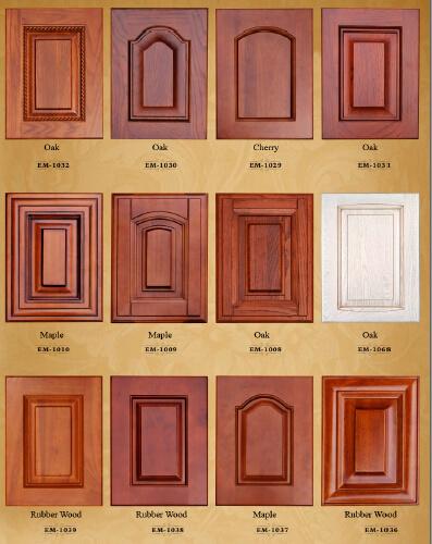 Las puertas del armario de cocina de madera maciza de abedul (puerta ...